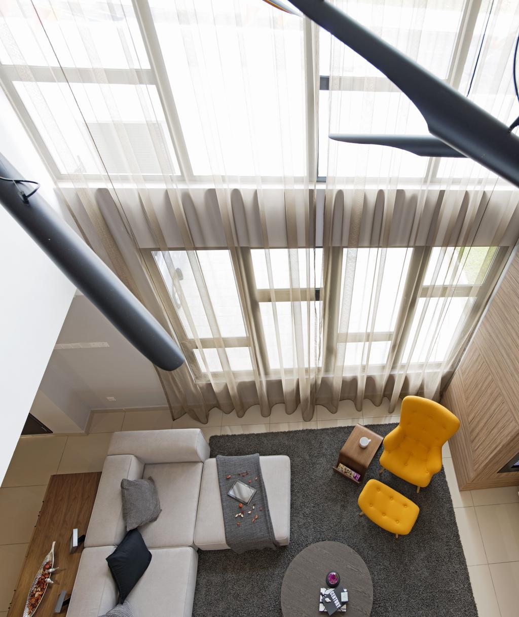 Minimalistic, Landed, Living Room, Aman Putri, Interior Designer, Think Studio, Chair, Furniture