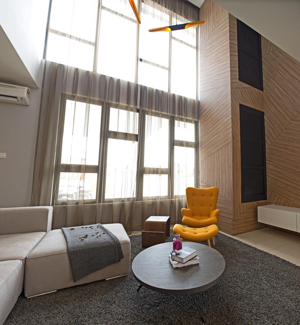 Minimalistic, Landed, Living Room, Aman Putri, Interior Designer, Think Studio, Chair, Furniture, Couch
