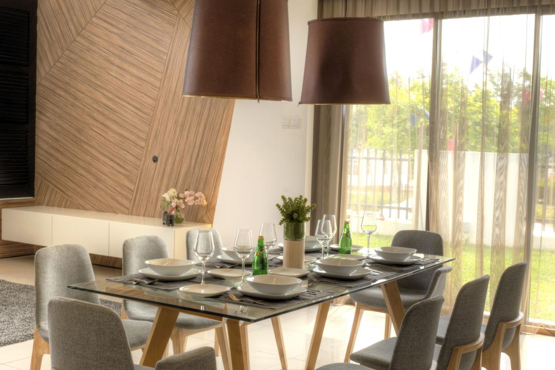 Aman Putri, Think Studio, Minimalist, Dining Room, Landed, Dining Table, Furniture, Table, Indoors, Interior Design, Room, Chair, Cup