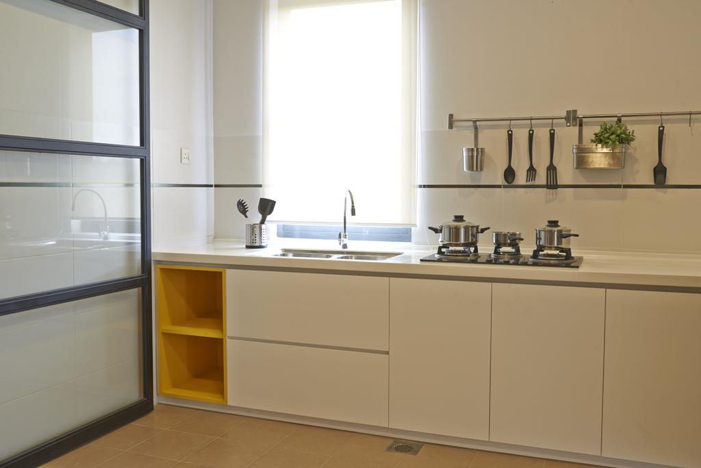 Minimalistic, Landed, Kitchen, Aman Putri, Interior Designer, Think Studio, Sink, Indoors, Interior Design, Room