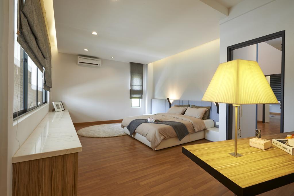 Minimalistic, Landed, Bedroom, Aman Putri, Interior Designer, Think Studio, Indoors, Interior Design