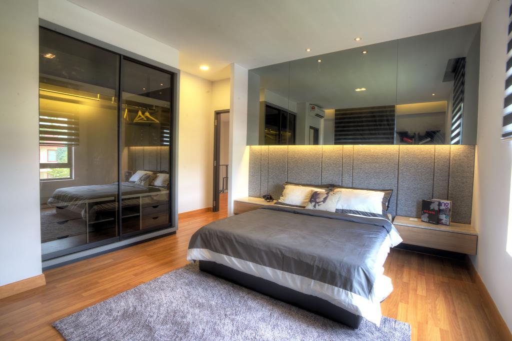 Minimalistic, Landed, Bedroom, Aman Putri, Interior Designer, Think Studio, Indoors, Interior Design, Room, Door, Sliding Door