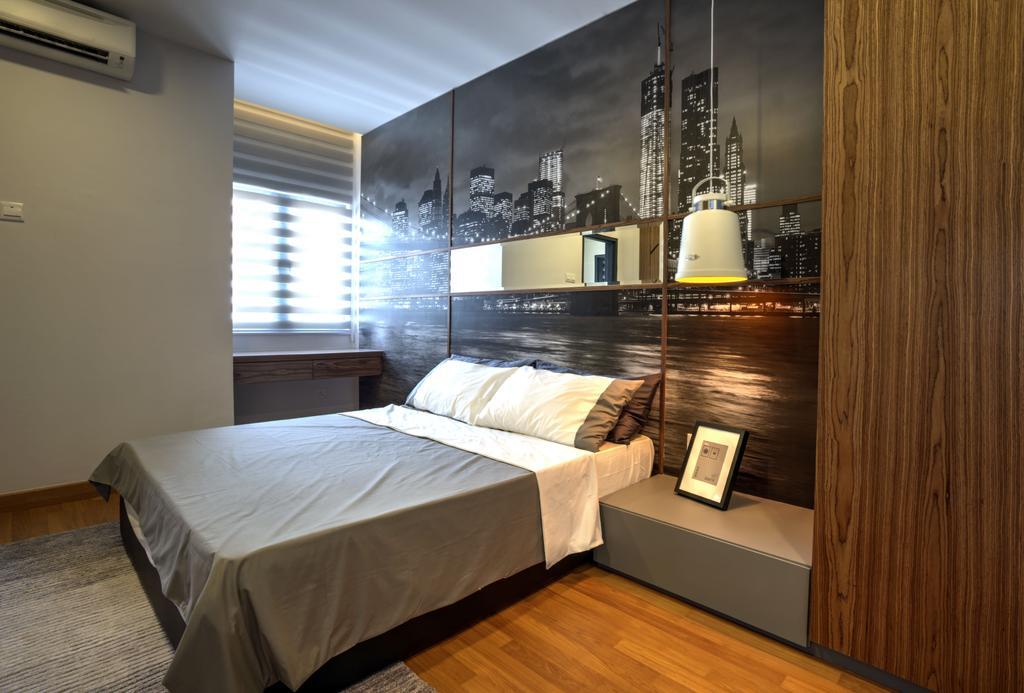 Minimalistic, Landed, Bedroom, Aman Putri, Interior Designer, Think Studio, Bed, Furniture, Indoors, Interior Design, Air Conditioner