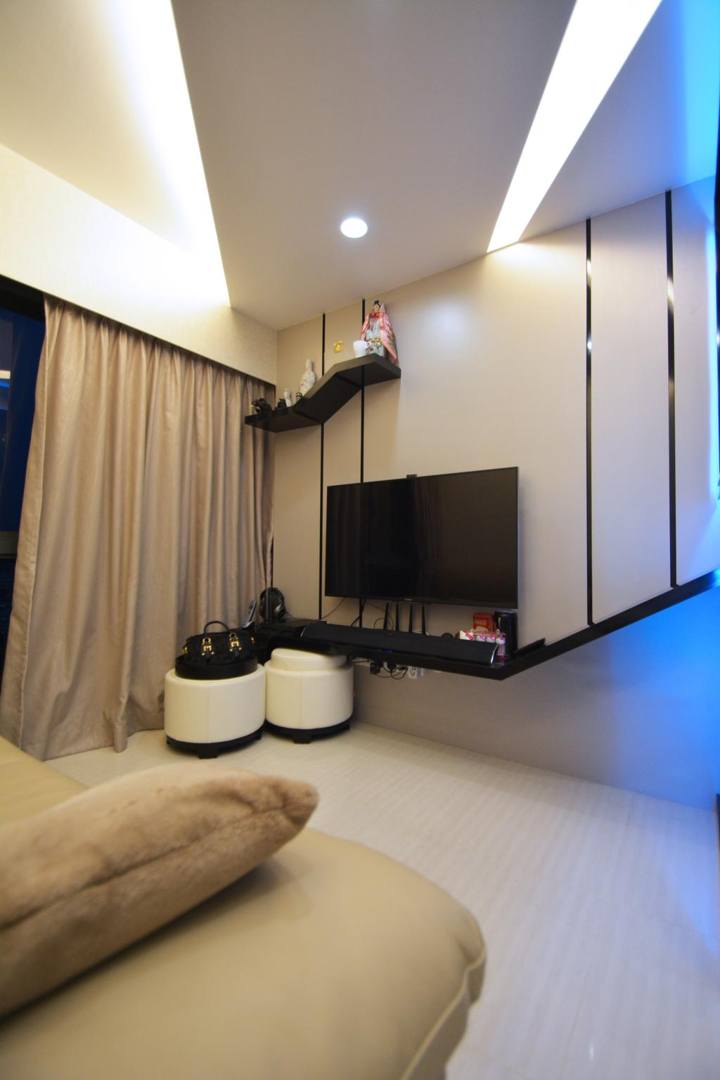 Modern, HDB, Living Room, Trivelis, Interior Designer, NID Design Group