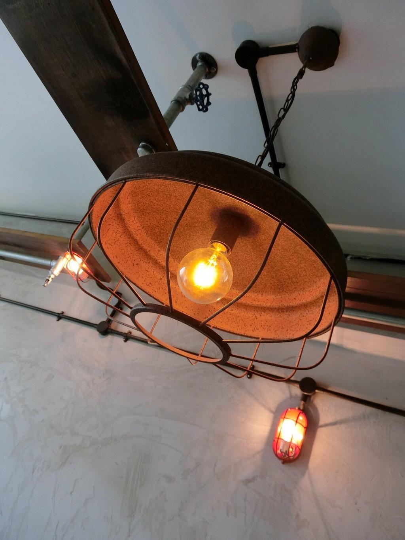 Industrial, HDB, Punggol Walk, Interior Designer, Ace Space Design, Caged Lamp, Light Bulb, Light Bulb Pendant Lamp, Pendant Lamp, Hanging Lamp, Light Fixture