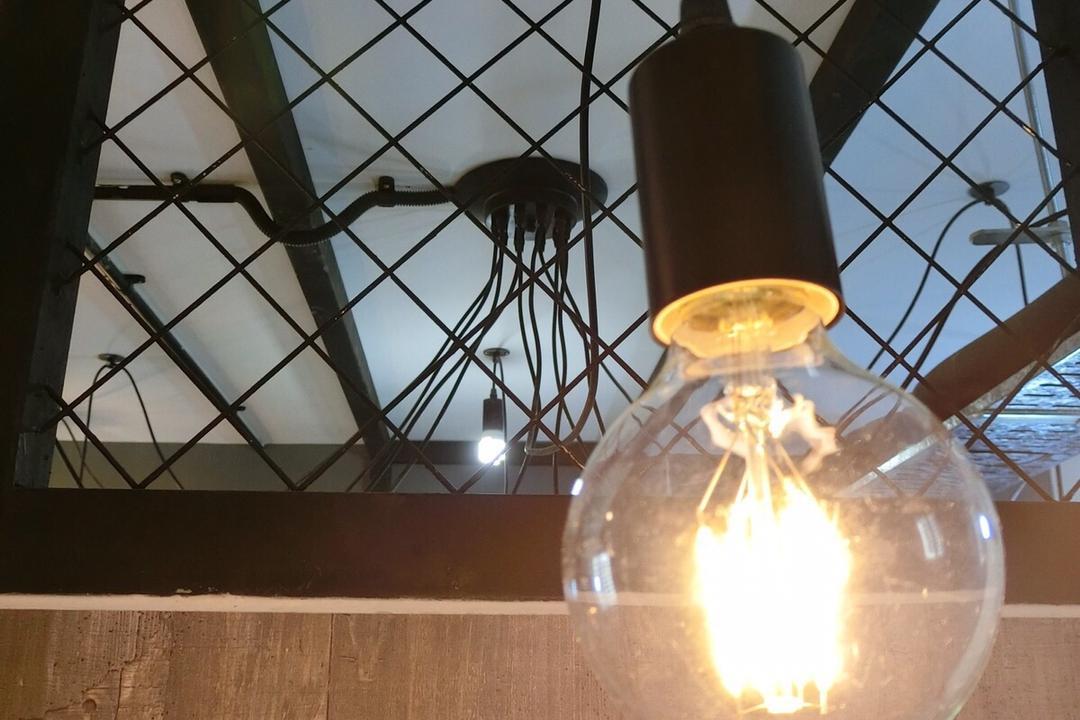 Punggol Walk, Ace Space Design, Industrial, HDB, Light Bulb, Light Bulb Pendant Lamp, Fire, Flame