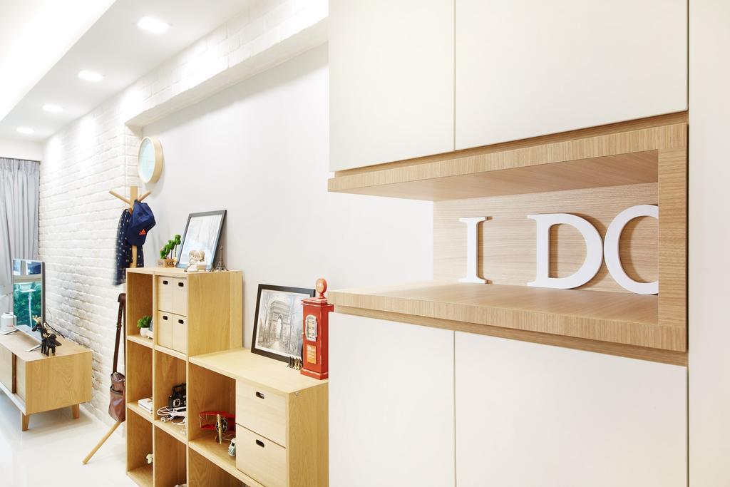 Minimalistic, HDB, Living Room, Boon Tiong Road (Block 10A), Interior Designer, The Local INN.terior 新家室, Scandinavian, Shelf