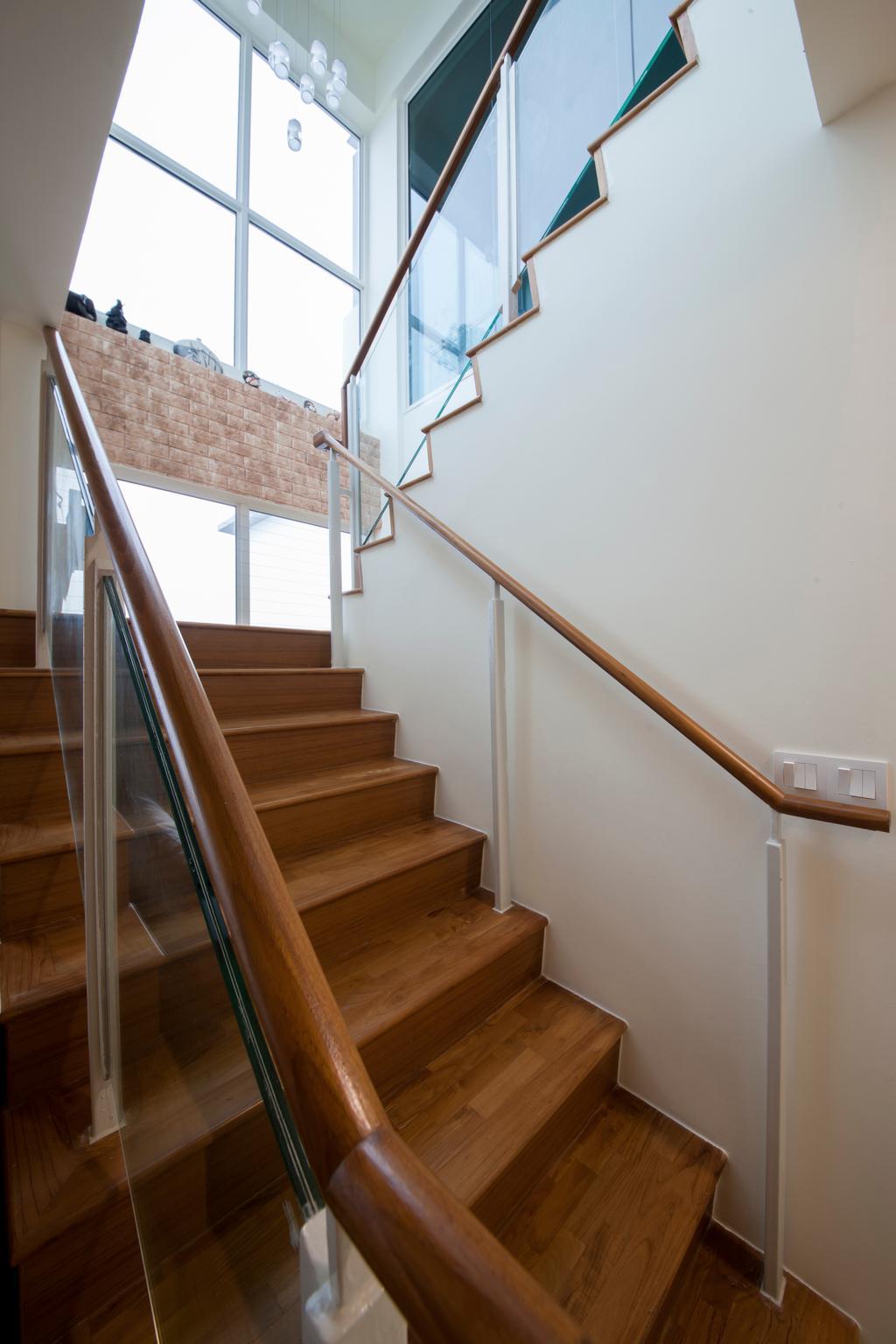 Contemporary, Condo, One Canberra, Interior Designer, Edge Interior, Banister, Handrail, Staircase