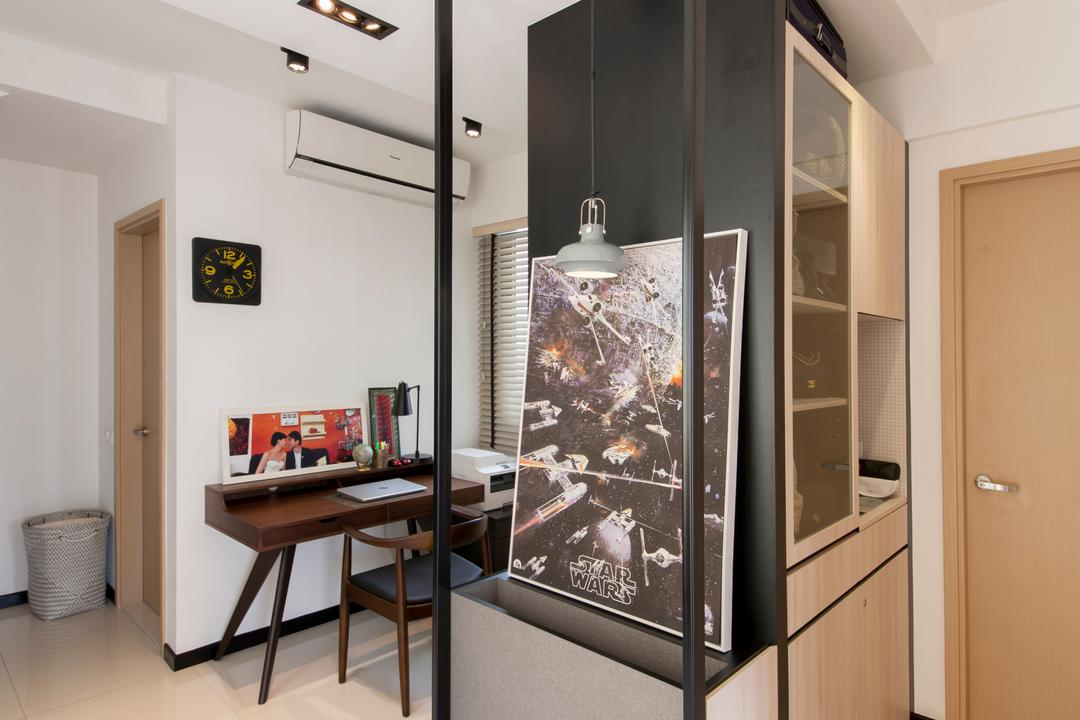 Parc Vera, Habit, Contemporary, Living Room, Condo, Door, Shoe Cabinet, Partition, Track Lighting, Wall Frame, Painting, HDB, Building, Housing, Indoors, Dining Table, Furniture, Table