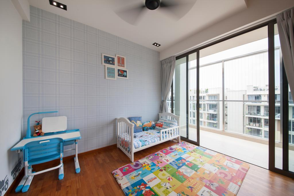 Contemporary, Condo, Bedroom, Parc Vera, Interior Designer, Habit, Children, Kids Room, Kids, Colourful, Kids Table, Small Table, Cot, Baby Cot, Soft Colours, Airy, Chair, Furniture, Crib