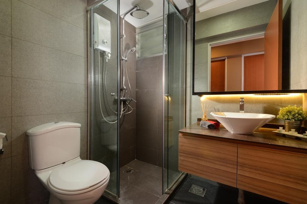 Contemporary, HDB, Bathroom, Anchorvale Street, Interior Designer, Eight Design