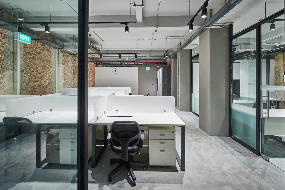 Neil Road, R+R Design Studio, Industrial, Commercial, Office Set Up, Office Desing, Filing Cabinets, Filing Drawer, Workstations, White Workstations, White Work Stations, Work Station, Industrial Office, Office Chairs, Parquet Floor, Veneer, Laminate