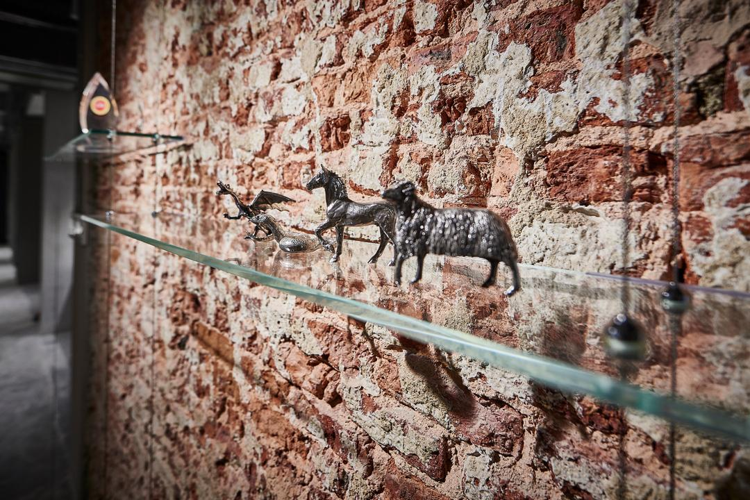Neil Road, R+R Design Studio, Industrial, Commercial, Red Brick Wall, Brick Wall, Designer Brick Wall, Brick Wall Feature Wall, Glass Display, Animal, Colt Horse, Horse, Mammal