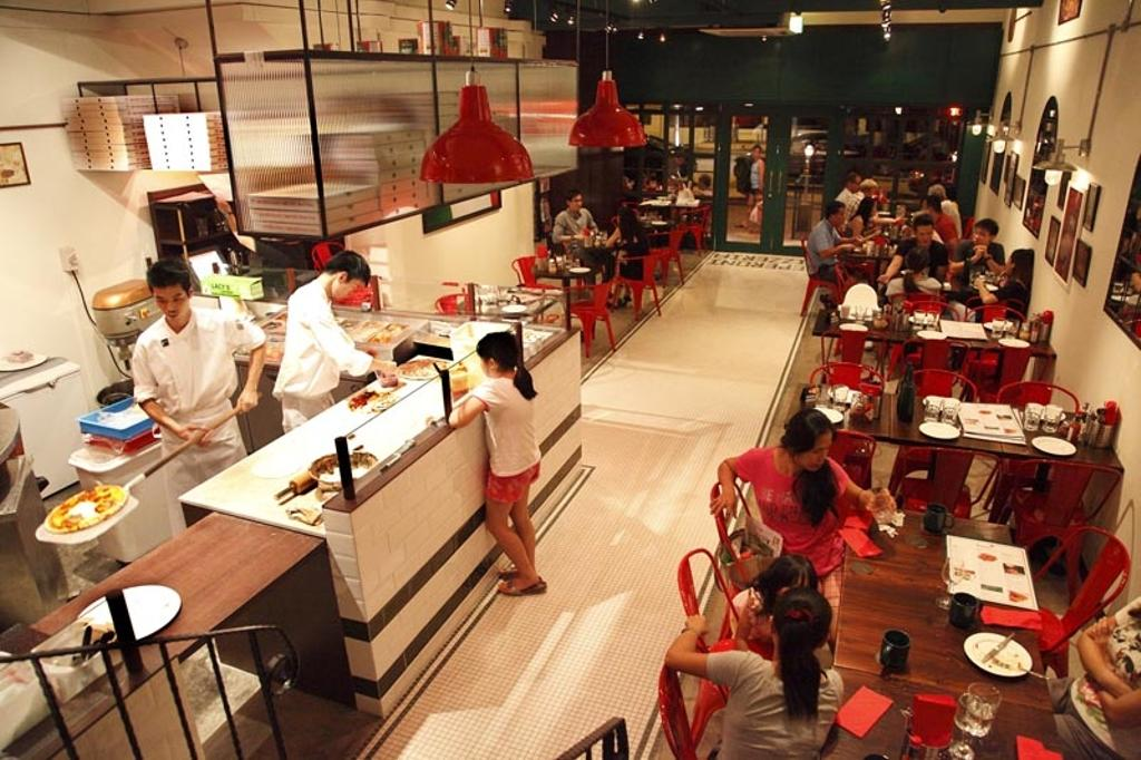 Frankel, Commercial, Interior Designer, Fineline Design, Cafe Tables, Red Industrial Chairs, Red Industrial Lgihts, Human, People, Person, Dining Table, Furniture, Table, Restaurant, Leisure Activities, Music, Musical Instrument, Percussion