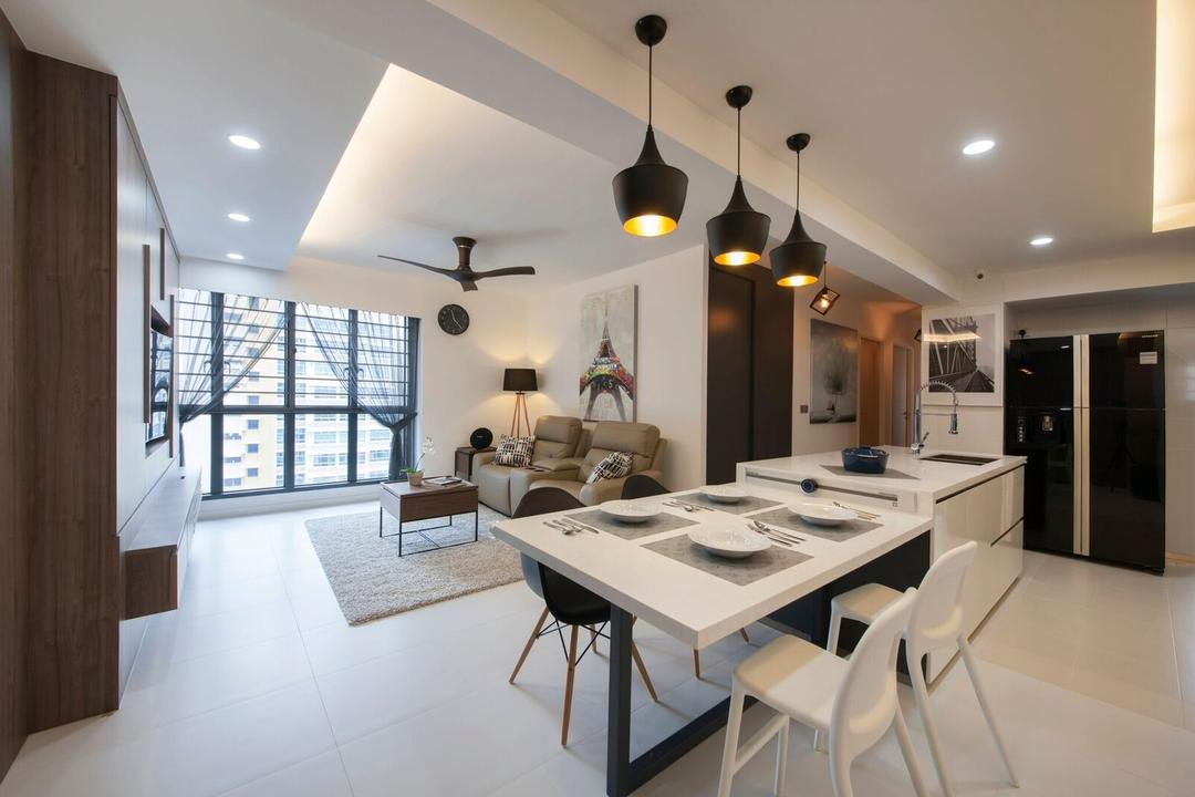 Kitchen Island Attached Table Interior Design Singapore
