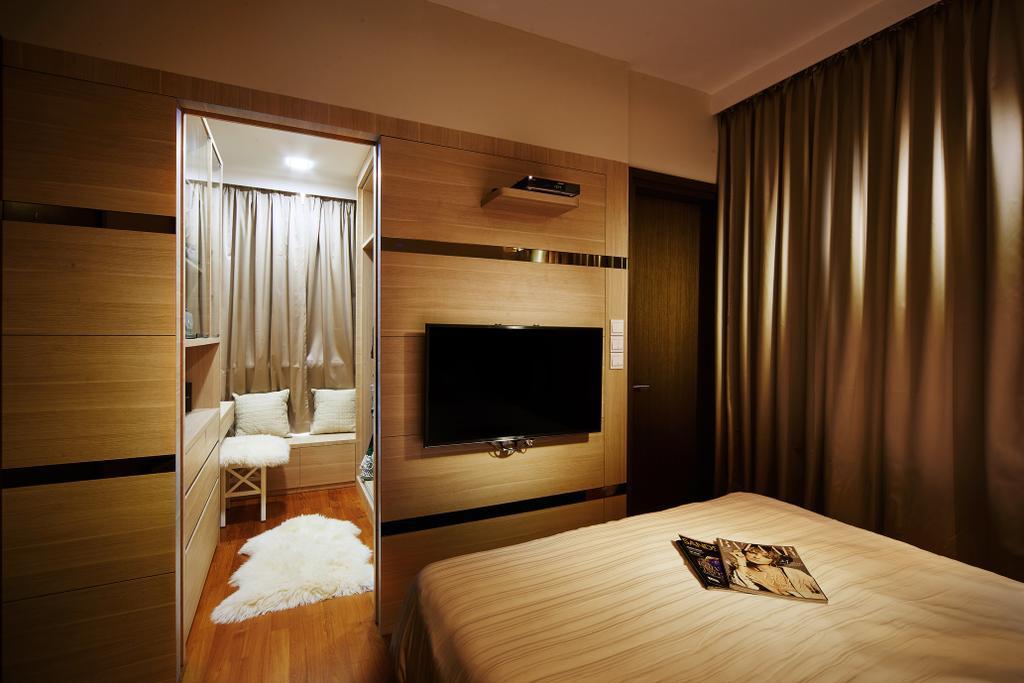 Modern, Condo, Bedroom, Mackenzie 88, Interior Designer, Design 4 Space, Indoors, Room, Bed, Furniture, Interior Design, Electronics, Entertainment Center