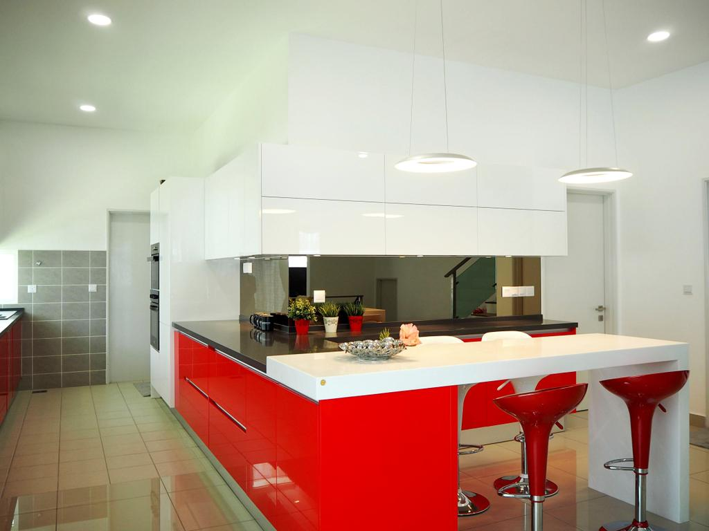 Contemporary, Landed, Kitchen, Clover Garden Residence, Interior Designer, Meridian Interior Design, Indoors, Interior Design, Room, Sink, Bar Stool, Furniture