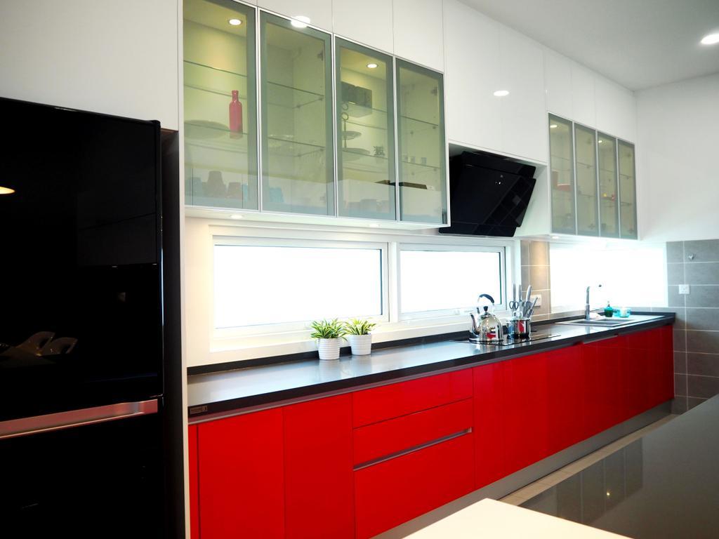Contemporary, Landed, Kitchen, Clover Garden Residence, Interior Designer, Meridian Interior Design, Indoors, Interior Design, Room