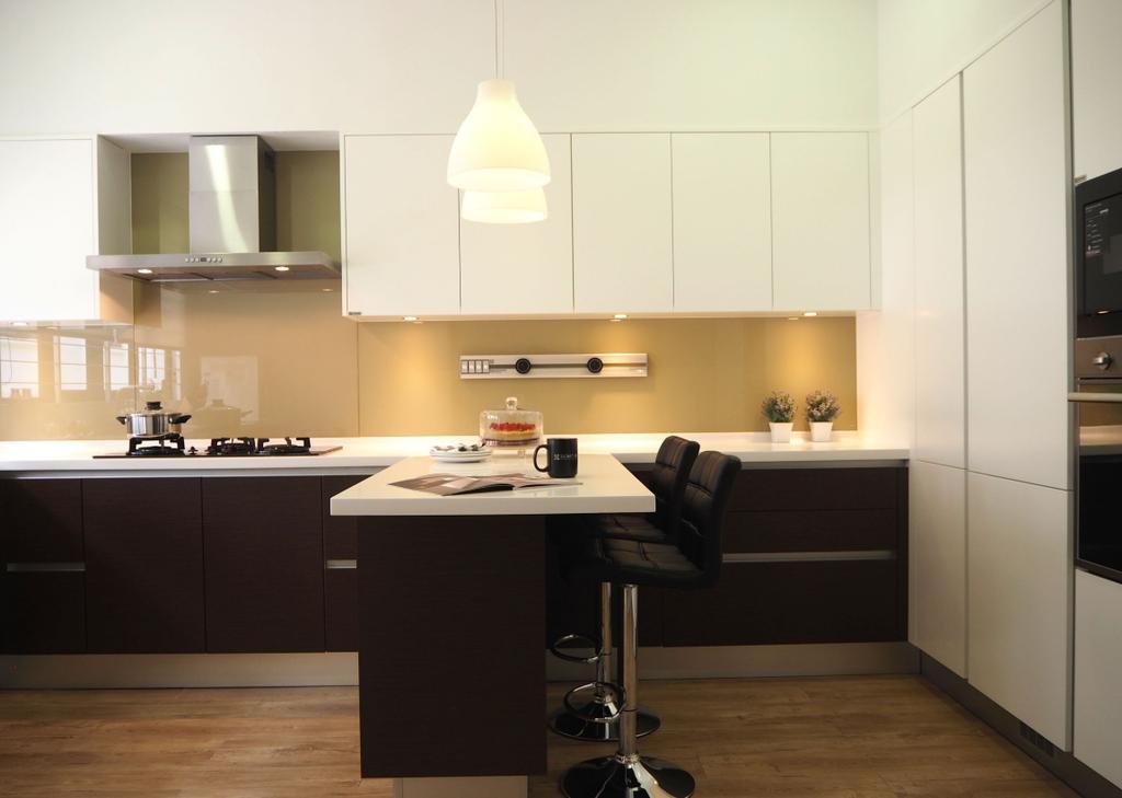 Contemporary, Landed, Kitchen, Maple Terrace, Interior Designer, Meridian Interior Design, Indoors, Interior Design, Room