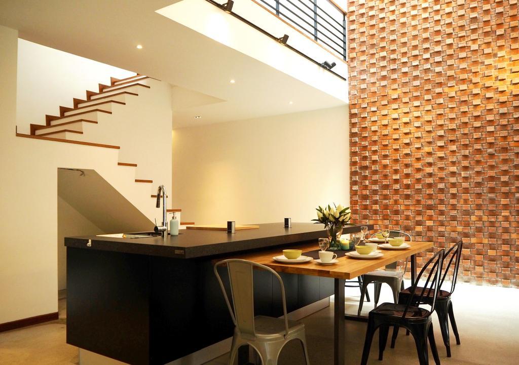 Industrial, Landed, Dining Room, Subang Jaya, Interior Designer, Meridian Interior Design, Indoors, Interior Design, Room, Dining Table, Furniture, Table, Chair