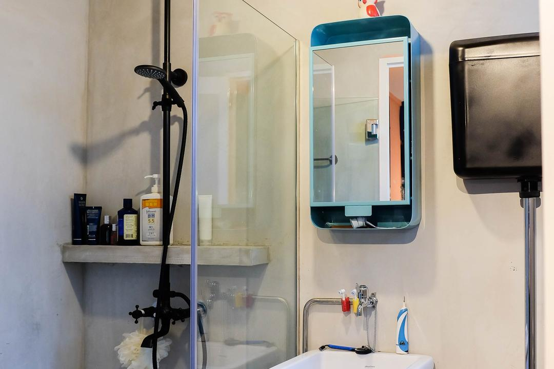 Simei Street (Block 133), Fifth Avenue Interior, Eclectic, Bathroom, HDB, Bathroom Sink, Sink, Mirror, Shower Screen, Showerhead