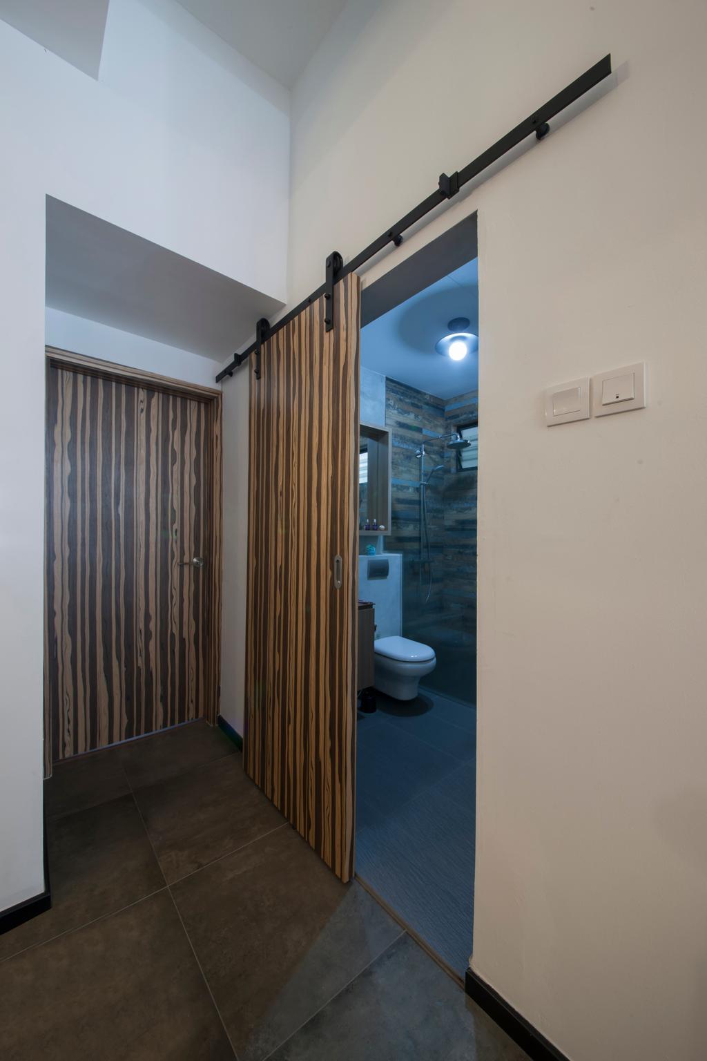 Industrial, Condo, Bathroom, Lakepoint (Block 10), Interior Designer, Voila, Bathroom Door