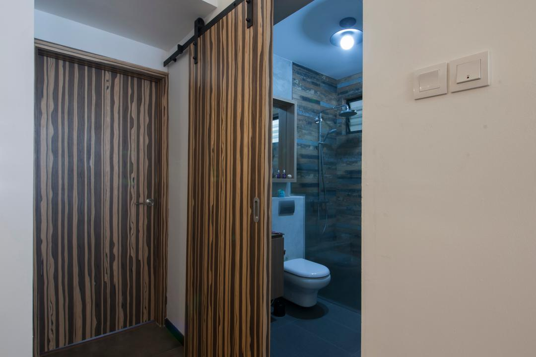 Lakepoint (Block 10), Voila, Industrial, Bathroom, Condo, Bathroom Door