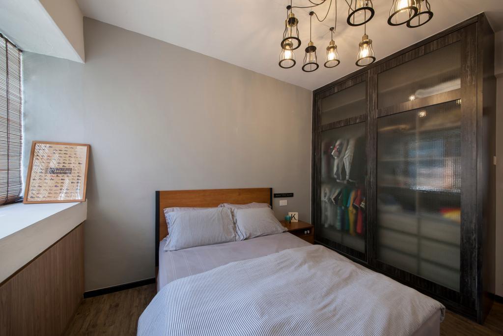 Industrial, Condo, Bedroom, Lakepoint (Block 10), Interior Designer, Voila, Indoors, Interior Design, Room, Bed, Furniture
