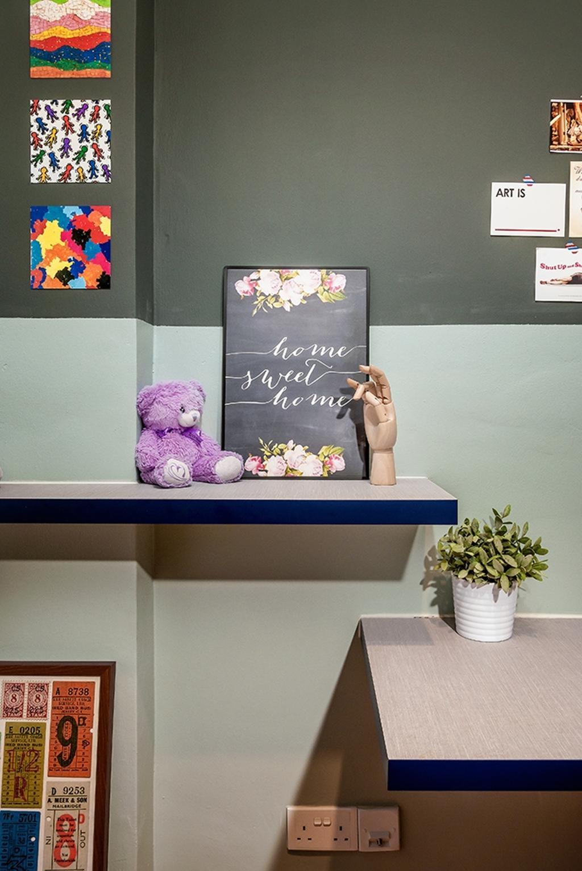 Contemporary, Condo, Study, Clementi, Interior Designer, Icon Interior Design, Flora, Jar, Plant, Potted Plant, Pottery, Vase, Teddy Bear, Toy, Cardboard, Human, Mannequin, Person
