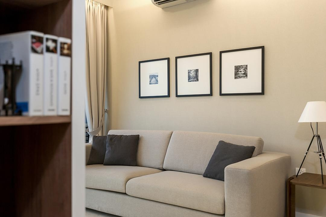 Lakeside, Icon Interior Design, Modern, Living Room, Condo, Painting, Wall Frame, Photo Frame, Wall Decor, Couch, Furniture