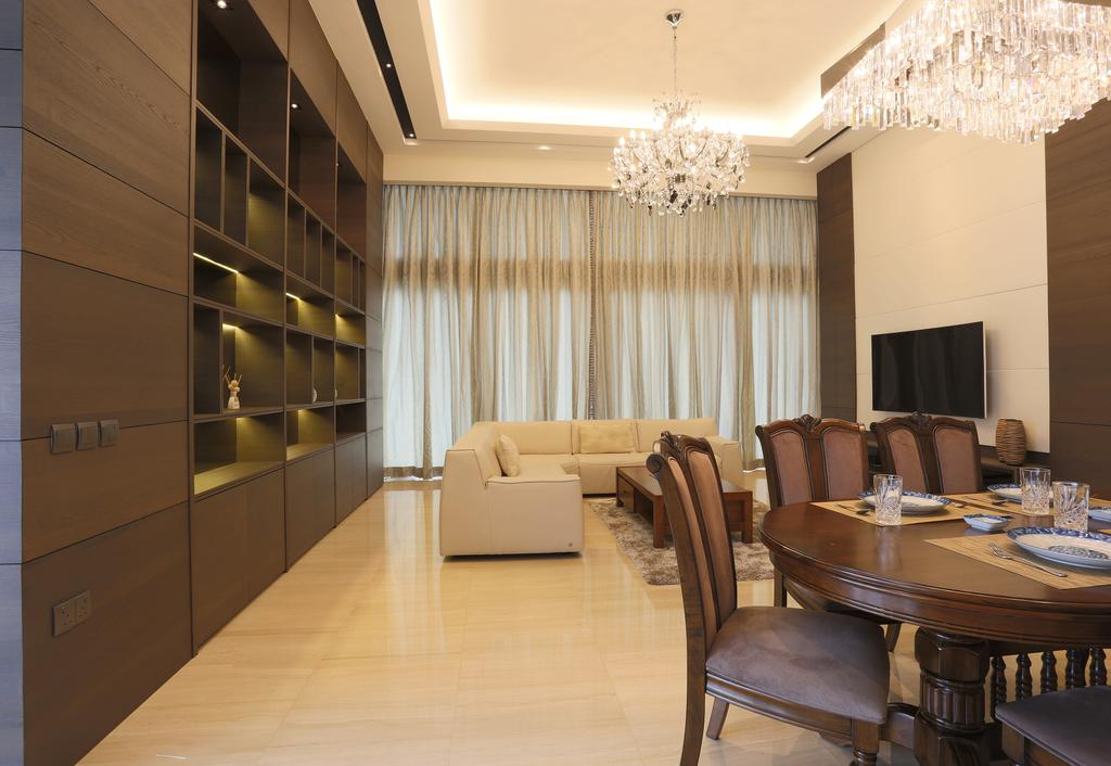 Traditional, Condo, Dining Room, Silversea, Interior Designer, United Team Lifestyle, Dining Table, Round Dining Table, Dining Chairs, Chandelier, Crystal Lights, Couch, Furniture, Chair, Table, Indoors, Interior Design, Room