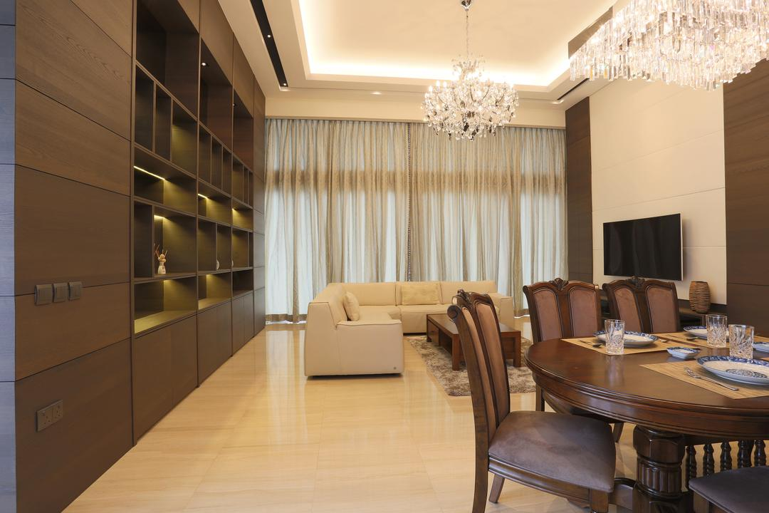 Silversea, United Team Lifestyle, Traditional, Dining Room, Condo, Dining Table, Round Dining Table, Dining Chairs, Chandelier, Crystal Lights, Couch, Furniture, Chair, Table, Indoors, Interior Design, Room