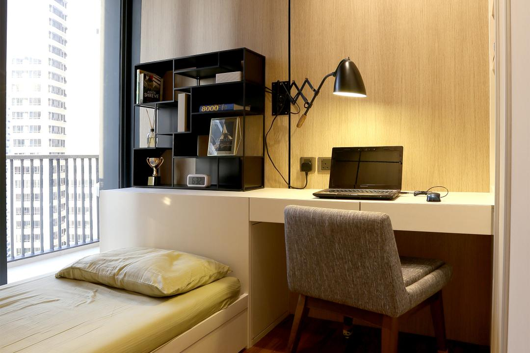 D'Leedon, United Team Lifestyle, Contemporary, Bedroom, Condo, Chairs, Study Table, Computer, Laptop, Single Bed, Table Lamp, Couch, Furniture, Chair, Electronics, Pc, Shelf, Entertainment Center, Kiosk