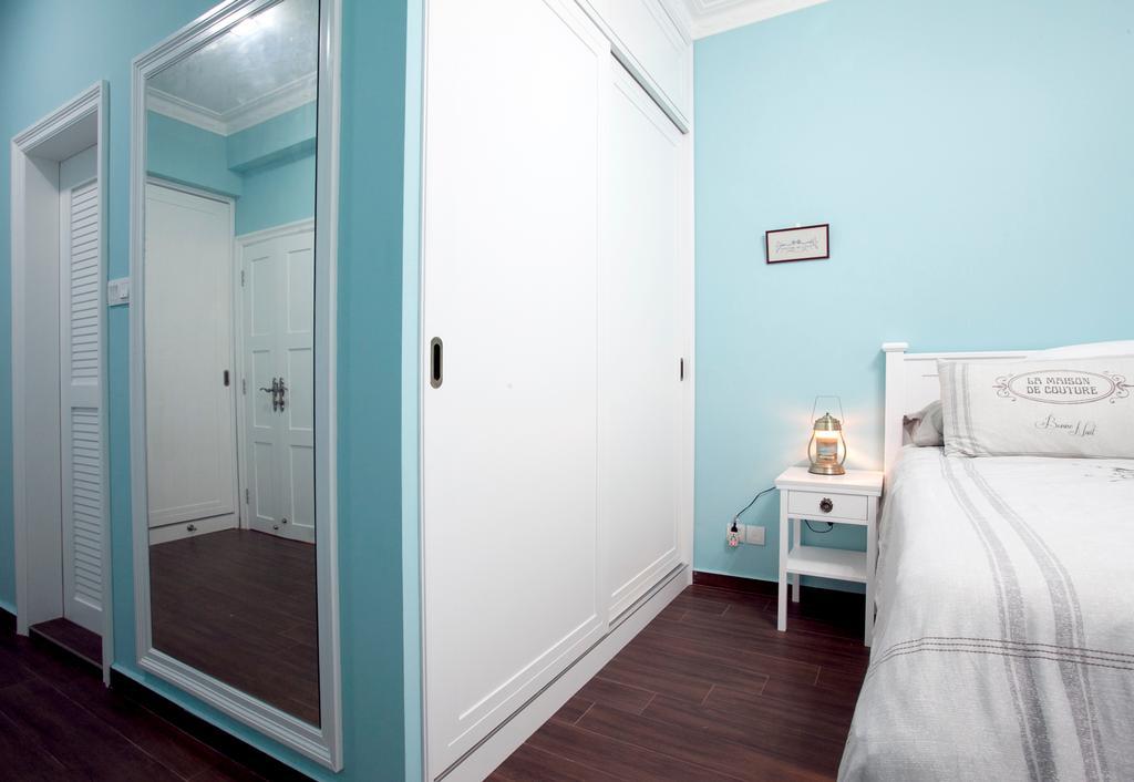 Minimalistic, Condo, Bedroom, Sin Ming Plaza, Interior Designer, United Team Lifestyle, Blue, Blue Walls, Blue Bedroom, White And Blue, , Soft Colours