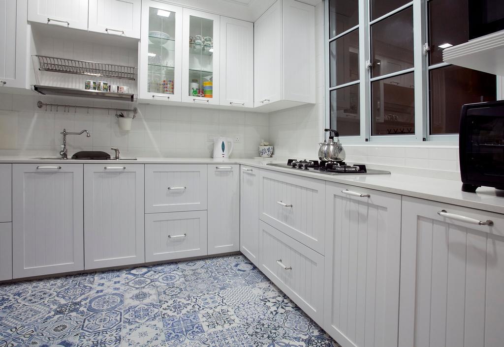 Minimalistic, Condo, Kitchen, Sin Ming Plaza, Interior Designer, United Team Lifestyle, Exhaust Hood, Kitchen Rack, Kitchen Shelf, White Cabinet, Indoors, Interior Design, Room