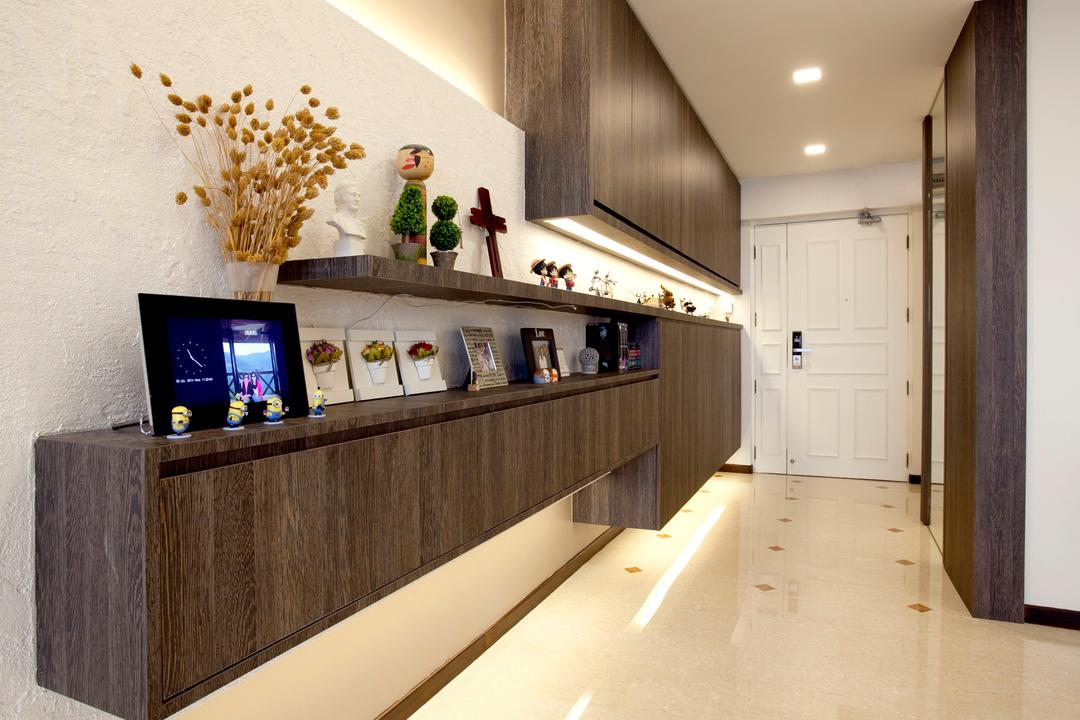 Toa Payoh (Block 62), United Team Lifestyle, Contemporary, Living Room, HDB, Floating Console, Floating Cabinet, Wall Shelf, Shelves, Shoe Cabinet, Side Cabinet, Home Decor, Ornaments, Photo Frame