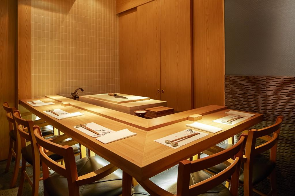 Sushi Jin, Commercial, Interior Designer, Fineline Design, Traditional, Chair, Furniture, Dining Table, Table