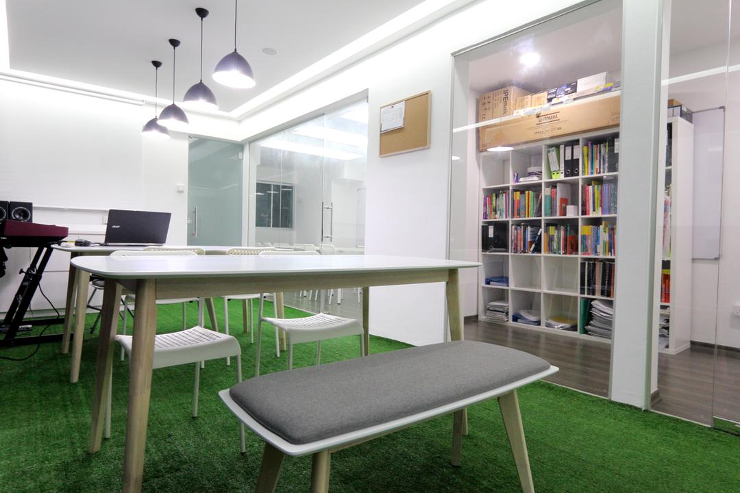 New Dawn Learning Centre, Singapore Carpentry, Minimalistic, Commercial, Bench, Cushioned Bench, Bookshelf, Books, Files, Storage