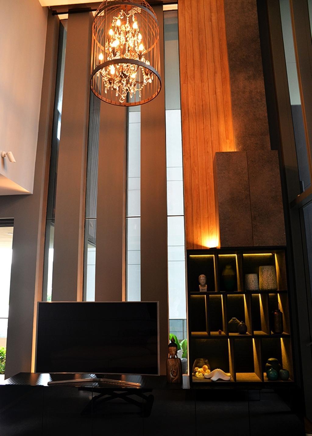 Contemporary, Condo, Living Room, Leedon Residences, Interior Designer, Singapore Carpentry