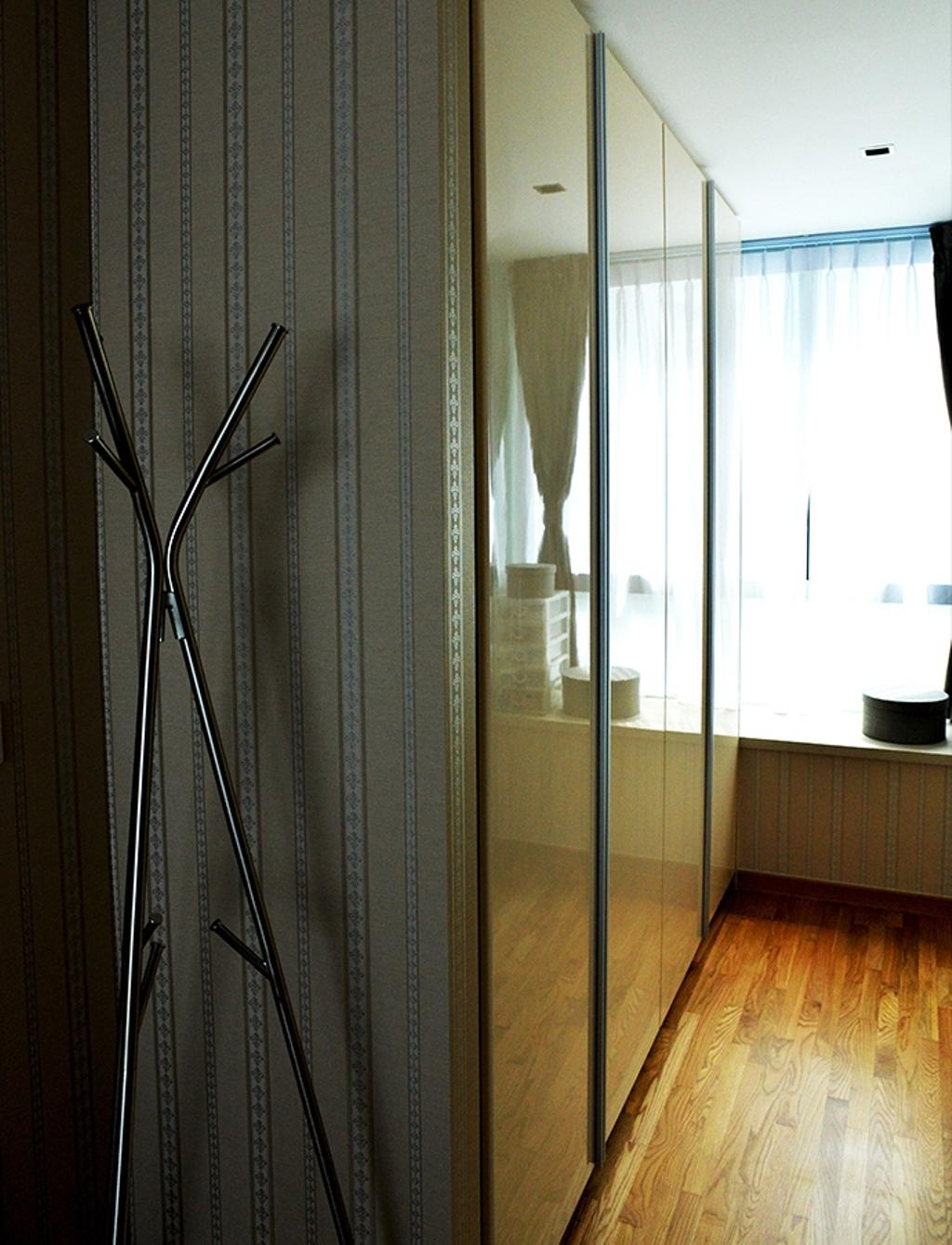 Contemporary, HDB, Bedroom, Simei Lane (Block 168C), Interior Designer, Singapore Carpentry, Coat Rack, Laminates, Wardrobe