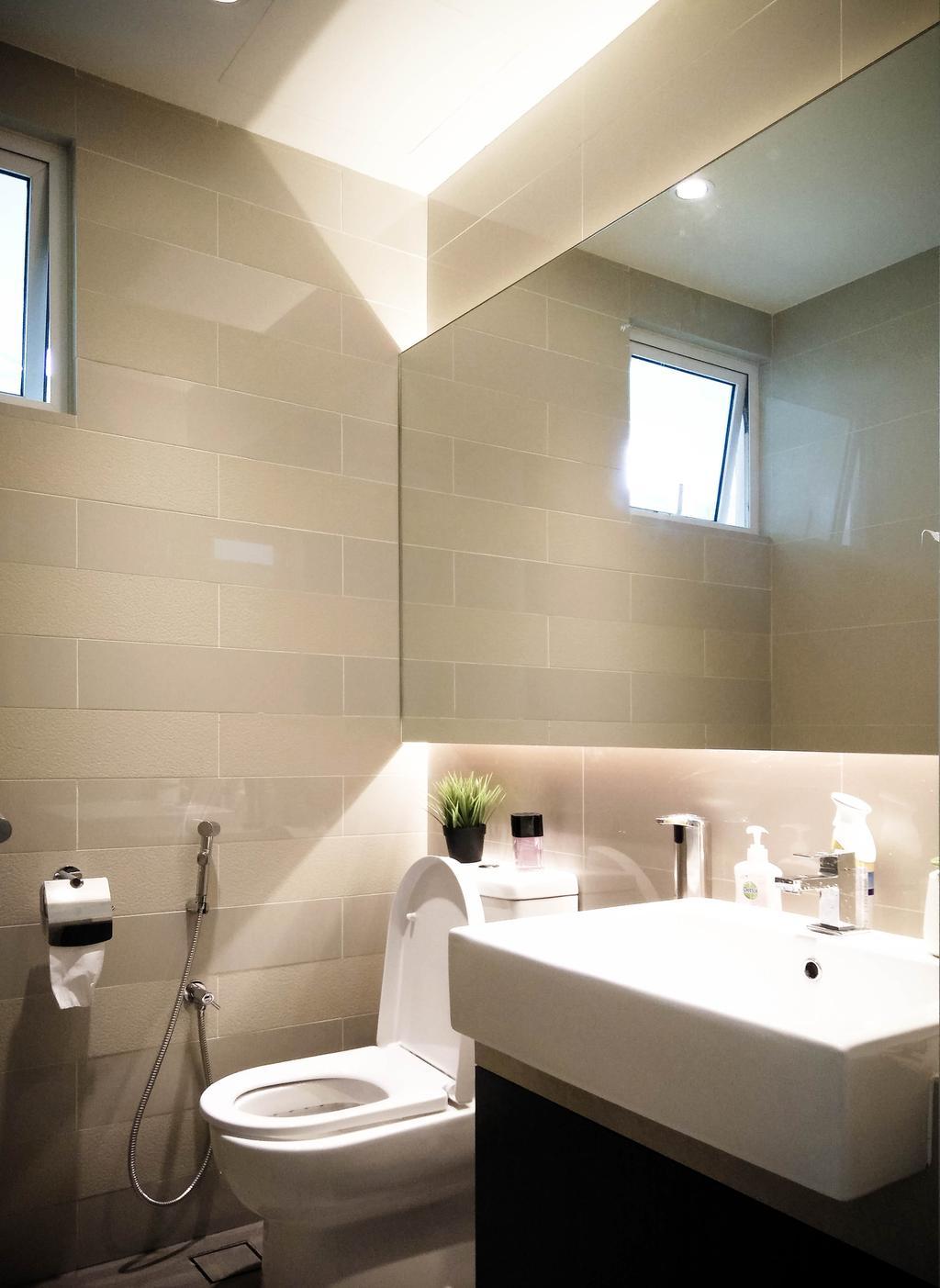 Contemporary, Condo, Bathroom, Le Yuan, Interior Designer, Double Art Design Studio, Indoors, Interior Design, Room