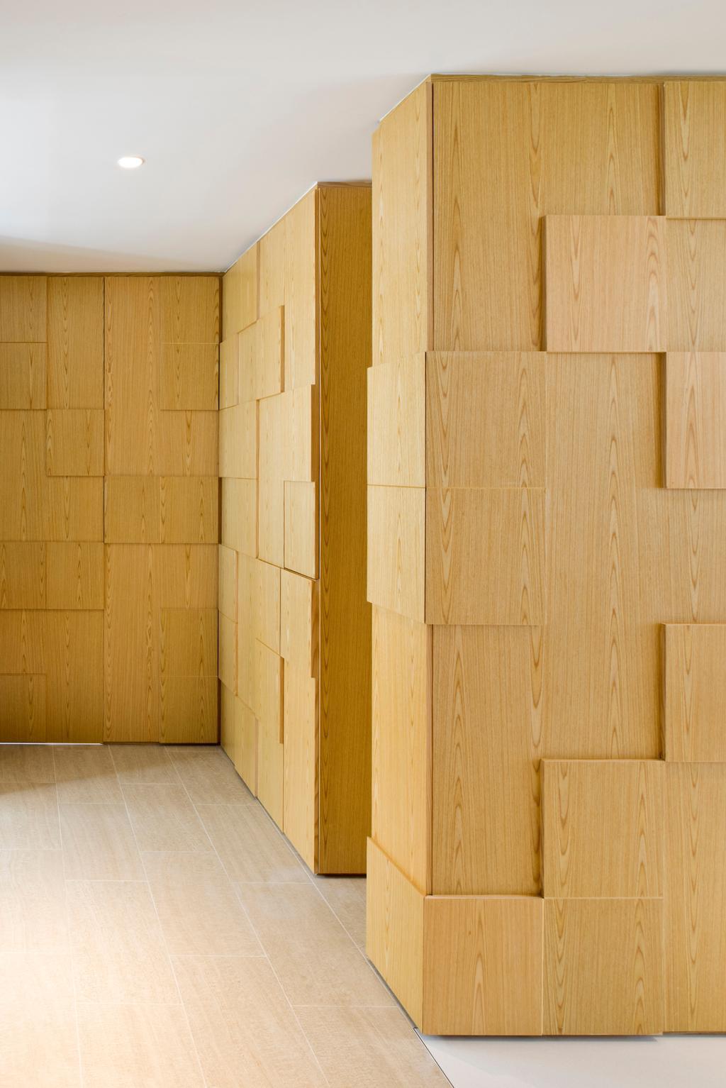 Minimalistic, Condo, Living Room, Waterina, Architect, 7 Interior Architecture, Wooden Blocks, Textured Wall, Woody