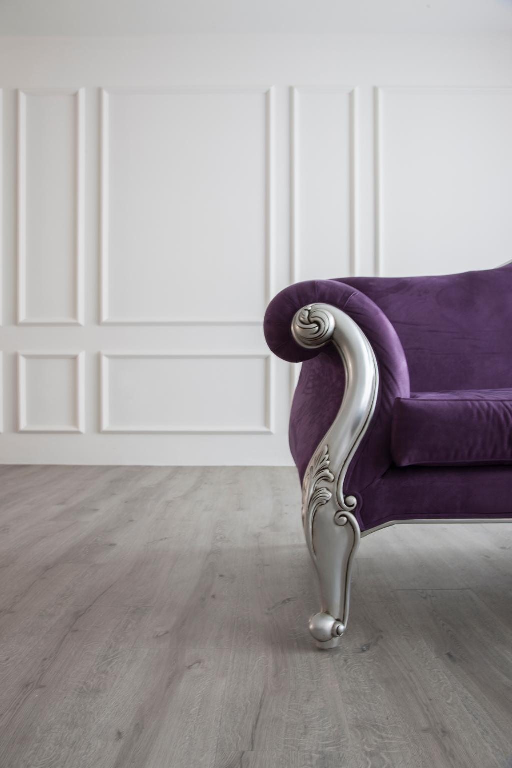 Vintage, HDB, Living Room, Pasir Ris, Interior Designer, M3 Studio, Wainscoting, Vintage Furniture, English, Victorian, White Wall, Clean, Wood Floor, Grey Wood Flooring, Couch, Furniture