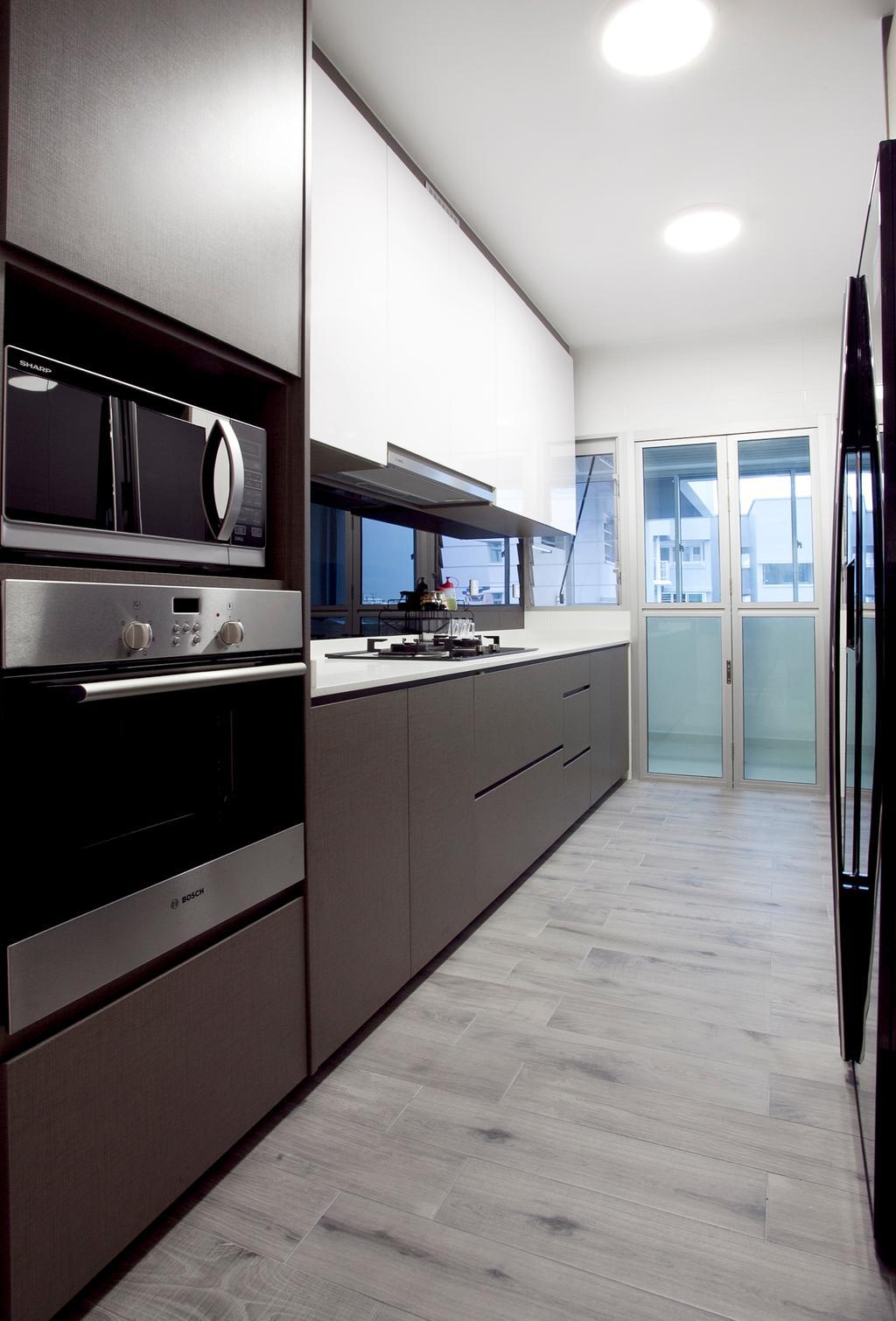 Modern, HDB, Kitchen, Fernvale Link (Block 415B), Interior Designer, United Team Lifestyle, Appliance, Electrical Device, Oven