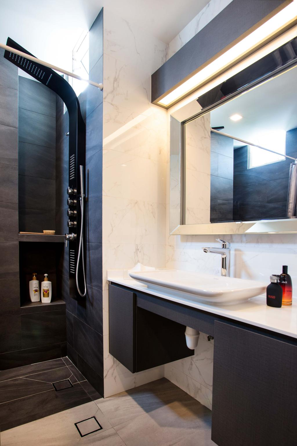 Modern, HDB, Bedroom, Harvest Mansion, Interior Designer, Cozy Ideas Interior Design, Sink, Bathroom, Indoors, Interior Design, Room