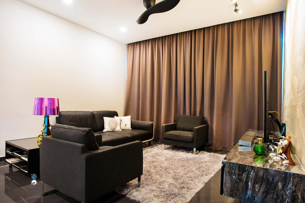 Modern, HDB, Living Room, Harvest Mansion, Interior Designer, Cozy Ideas Interior Design, Carpet, Fuzzy Carpet, Couch, Furniture
