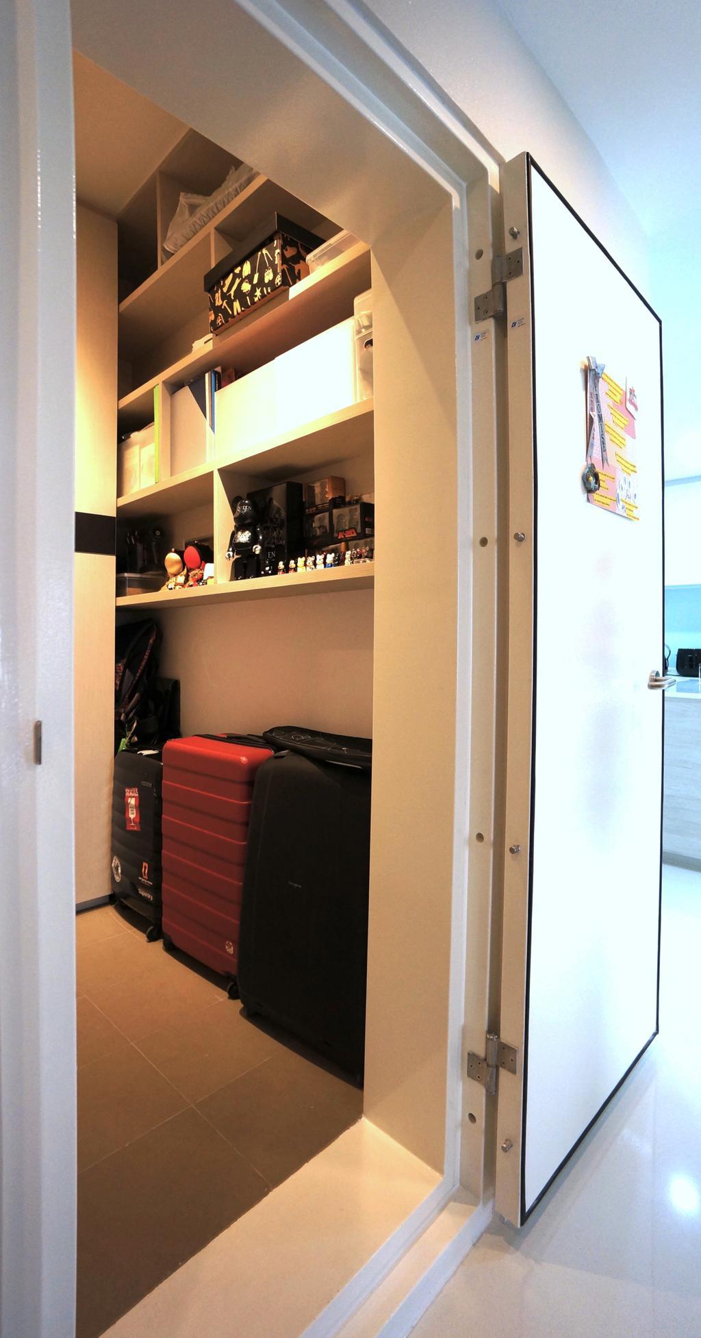 Modern, Condo, Bartley Residences, Interior Designer, Space Atelier, Door, Store Room, Storage