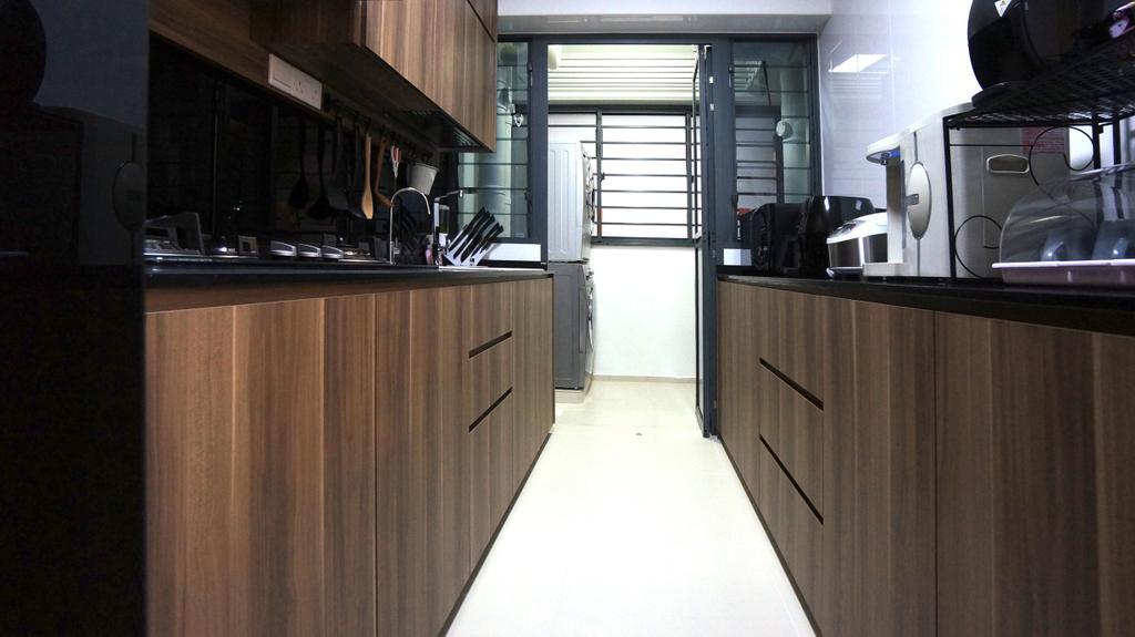 Modern, HDB, Kitchen, Punggol Walk (Block 310C), Interior Designer, Space Atelier