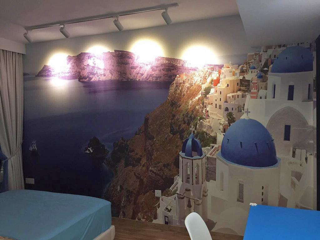 Scandinavian, HDB, Bedroom, Bedok Reservoir (Block 748), Interior Designer, Explore Living, Wallpaper, Santorini, Greece, Travel, International, Architecture, Bell Tower, Building, Tower
