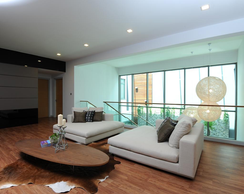 Modern, Condo, Living Room, Duplex Condo, Interior Designer, SQFT Space Design Management, Couch, Furniture, Indoors, Interior Design